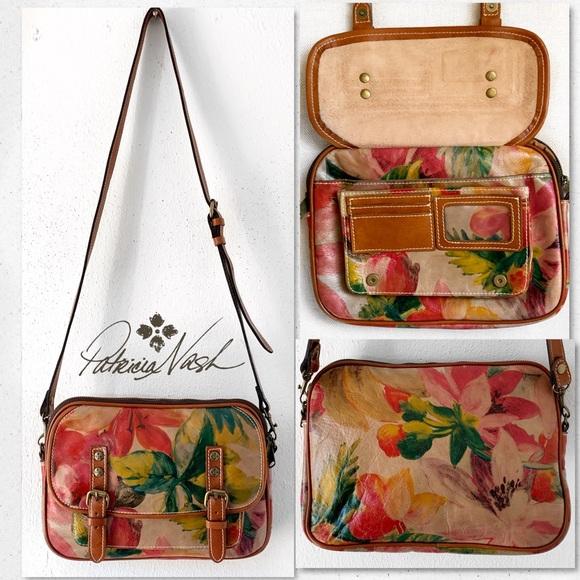 Patricia Nash Handbags - Patricia Nash Multi Floral Crossbody Satchel Bag